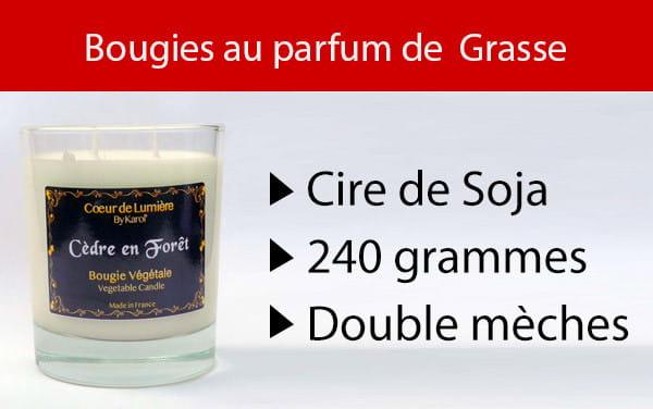 Bougie au parfum de Grasse