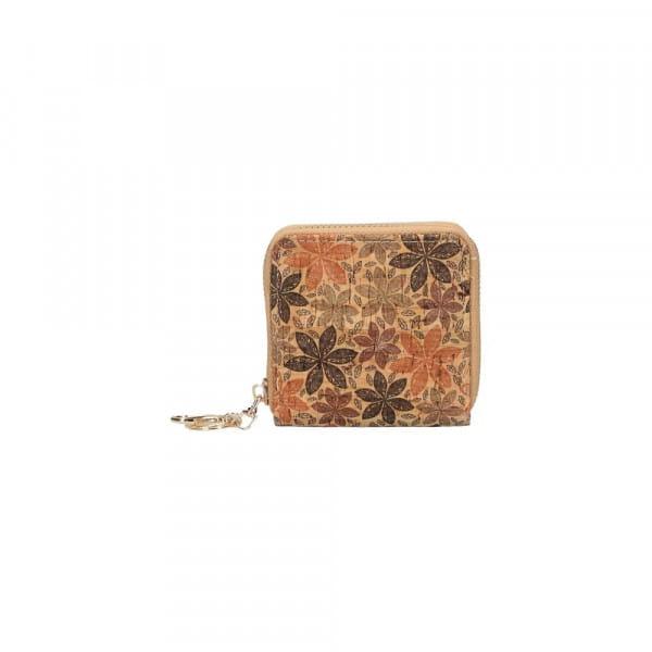 Porte monnaie en liège - fleur d'automne